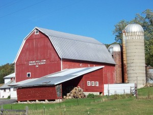 Family farm barn