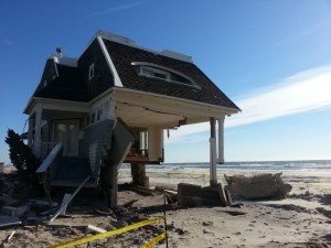 A house destroyed by Superstorm Sandy.
