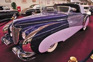 A vintage pink Cadillac.