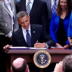 President Obama Signs the JOBS Act into law.