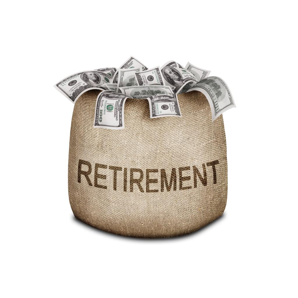 retirement bag of money