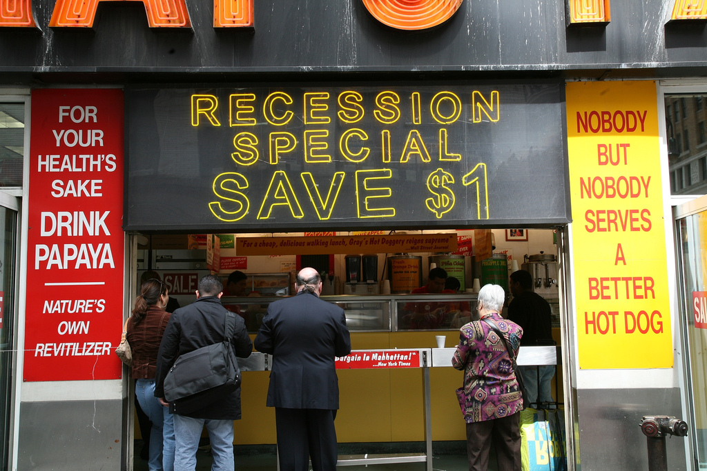 recession hot dogs