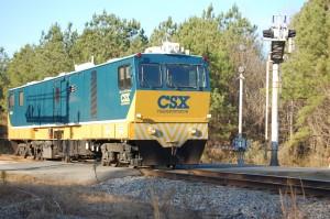 A CSX train.