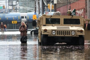 Flooding following Superstorm Sandy