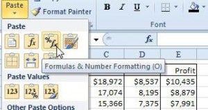 Excel borders