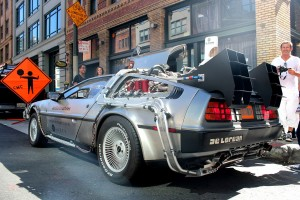 "In a 2013 promotion, Uber offered rides in a Delorean like the time-traveling one from the ""Back to the Future"" films."