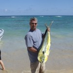 Godick landed this Mahi Mahi in the Dominican Republic. It was the main feature of a big dinner party.