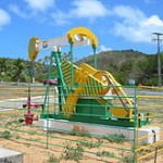 A Petrobras land oil pump