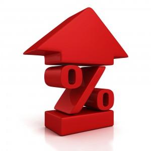 percentage rising