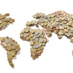world map money