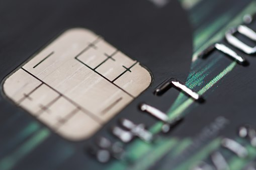 credit card close up EMV chip