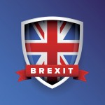 Brexit sign UK flag vector
