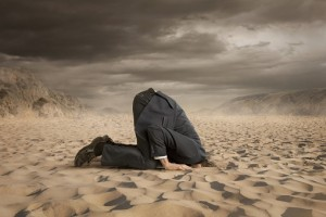 head in sand corporate crisis