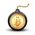 Bitcoin bomb symbol