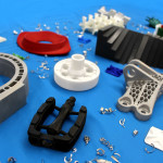 Assorted 3D-printed parts