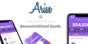 A marketing image used by AriseBank.