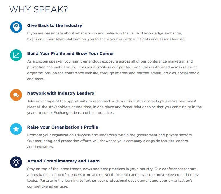 Speaker Benefits