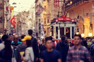 Turkey Istanbul street scene