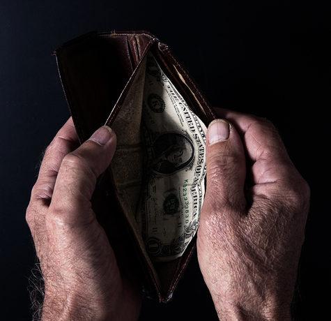 pension survey old hands wallet