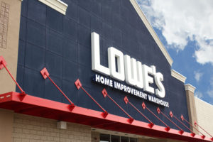 restructuring push Lowe's warehouse photo